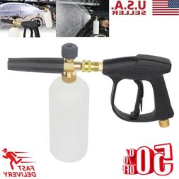 "1/4"" Pressure Snow Foam Washer Jet Car Wash Lance Soap Spray"