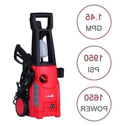 1950 PSI 1.45 GPM Electric High Pressure Washer with Deterge