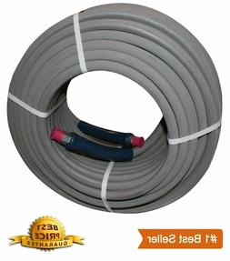 "100 ft 3/8"" Pressure Washer Hose Gray Non-Marking 4000psi 27"
