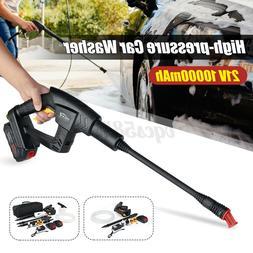 21v cordless portable high pressure car washer