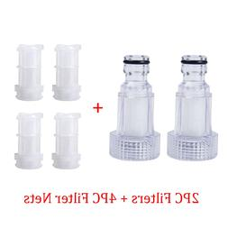 2pcs/set Car Washing Machine Water Filter Connection For <fo