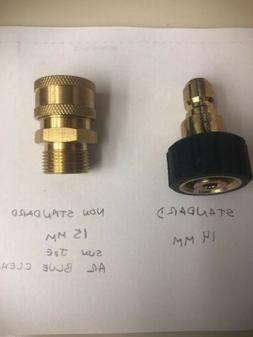 3/8 Coupler/15mm Twist Connect Pressure Washer Non Standard