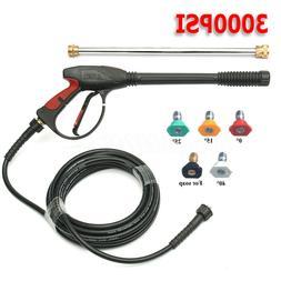3000 PSI High Pressure Car Power Washer Spray Gun Wand Tips