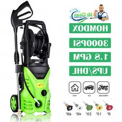 3000PSI 1.8GPM Electric Pressure Washer Pressure Water Clean
