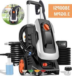 3800PSI Electric Pressure Washer 2000W 3.0GPM High Pressure