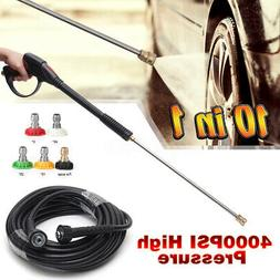 4000PSI High Pressure Power Washer Spray 5 Nozzle Water Gun+
