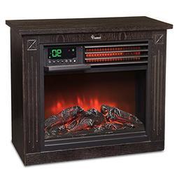 Ivation 5,100 BTU Infrared Quartz Fireplace - 1500W Electric