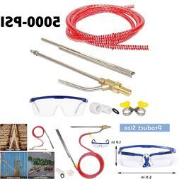 5000PSI Power Pressure Washer Sandblaster Kit Accessories Du