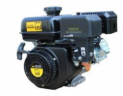 WEN 56212 Horizontal Shaft 4-Stroke Gas Engine, 212cc Displa