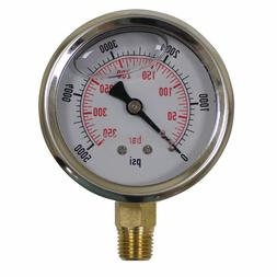 758-974 Stens Pressure Washer Gauge pressures to 5000, 1/4""