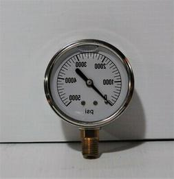 Pressure Washer Gauge  758 974 pressures to 5000 Stainless s