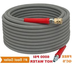Pressure Washer Parts Hose - 6000 PSI 100 FT 2 Wire Braid -