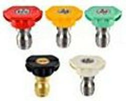 Set of 5, Nozzle Spray for 4000 PSI Homelite Power Pressure