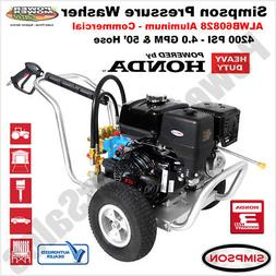 Simpson 4200 PSI Commercial Pressure Washer Honda GX390, 50'