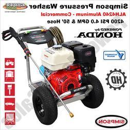 Simpson ALH4240 Aluminum 4200 PSI / 4.0 GPM Gas Pressure Was