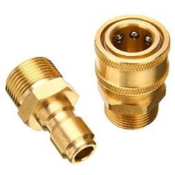 1Pair Brass 3/8 inch Washer Adapter M22 Quick Release Pressu