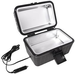 Car and RV Lunch Box With 12 Volt Powered Stove – Plugs In