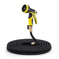 Podura 50ft Durable Expandable Garden Water Hose with Solid