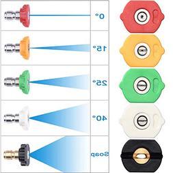 DUSICHIN DUS-025 Pressure Washer Spray Nozzle Tips Multiple