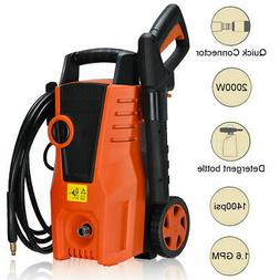 1400PSI Electric High Pressure Washer 2000W 1.6GPM Sprayer C