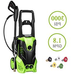 PaPafix - Electric Pressure Washer 3000 PSI, 1.80 GPM, 1800W