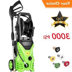 Flagup 3000 PSI Electric Pressure Washer, High Pressure Wash