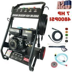 Gas Pressure Washer 4800PSI 7HP Gas 196cc 4-Stroke Nozzles w