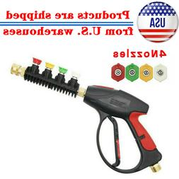 High Pressure Power Washer Gun Water 4000 PSI 4-color Nozzle