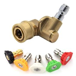 High Pressure Washer Spray Nozzle Tips Pivoting Coupler 4500