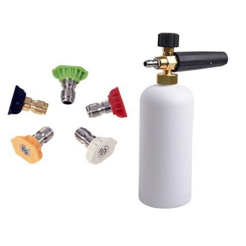 "1/4"" Snow Lance Cannon Washer Pressure Car Foamer Wash Jet"