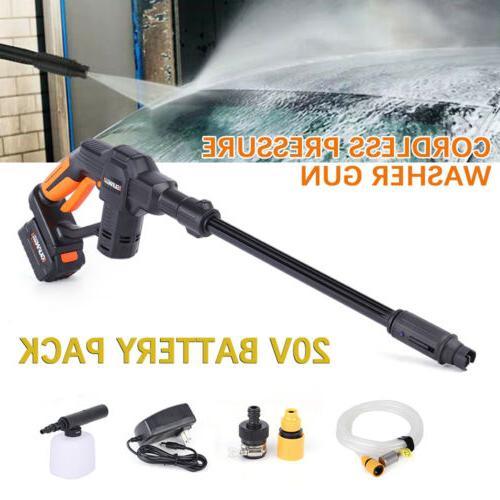 20v cordless pressure cleaner car washer gun