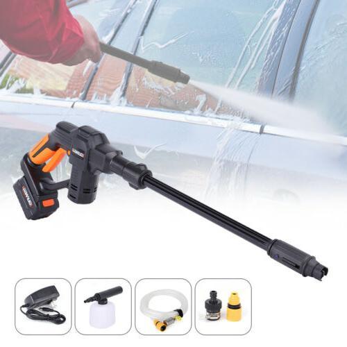 20V Cordless Pressure Car Gun& Hose Nozzle Outdoor+Battery