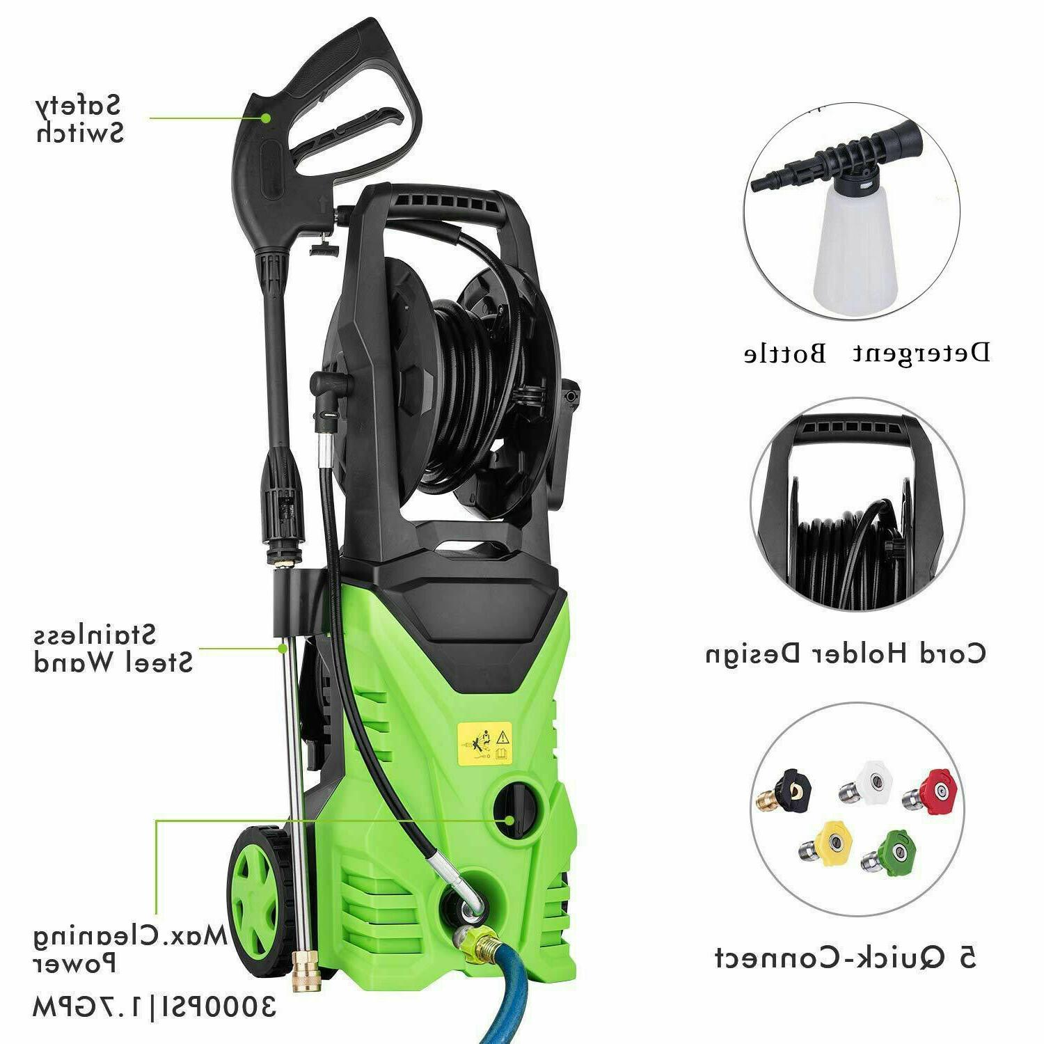 3000PSI 1.8GPM Electric Pressure Washer Home Water