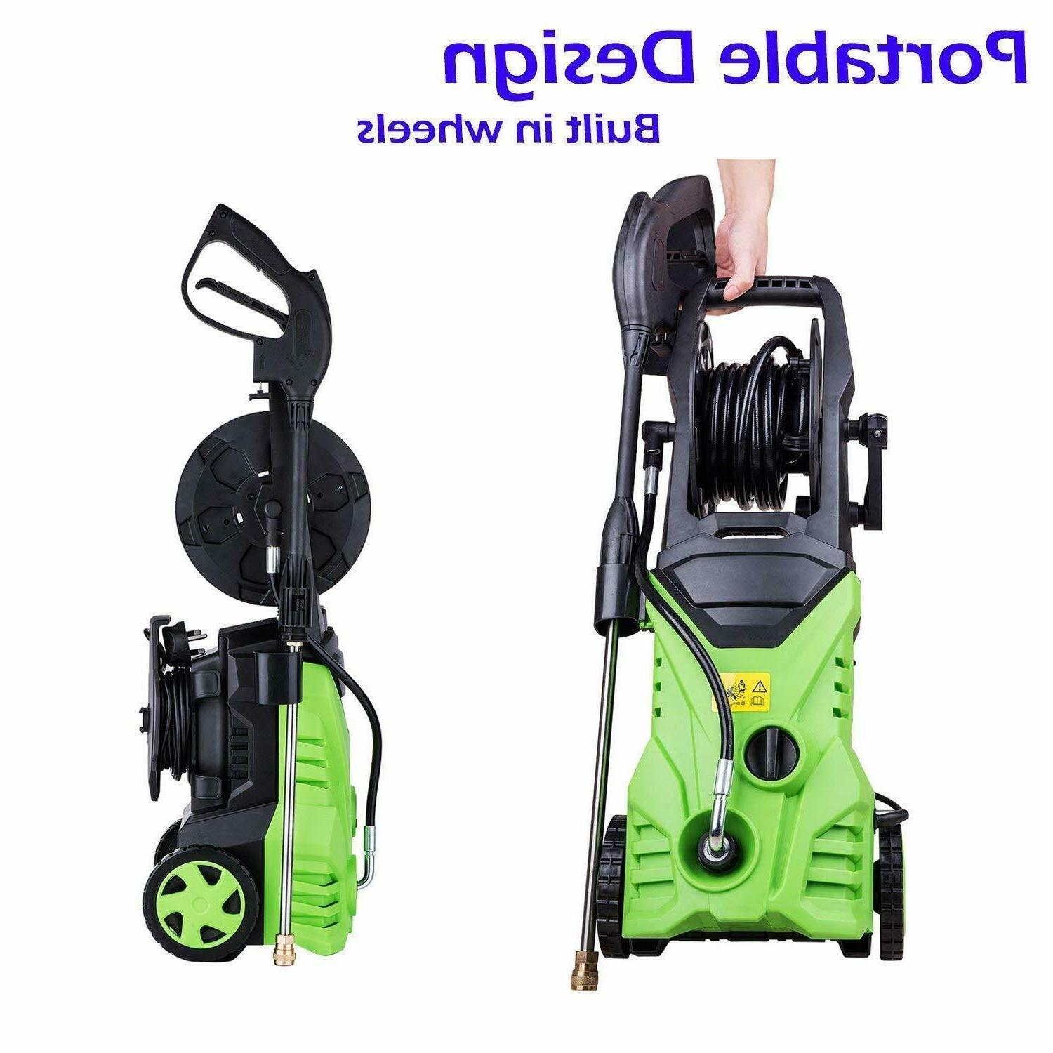 3000PSI Electric Washer,1800W Power High Pressure Washer