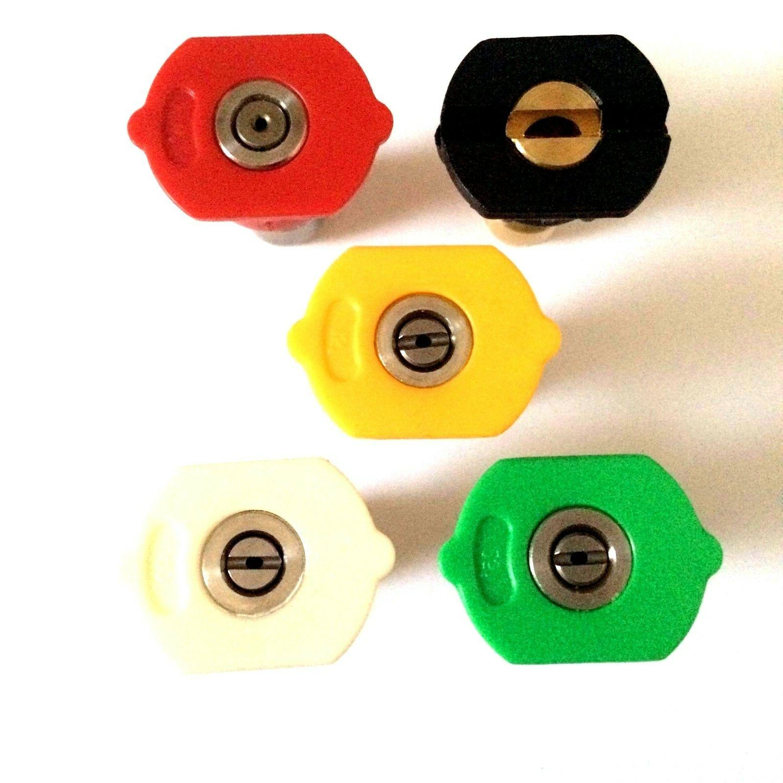 5pcs Color Coded Pressure Washer Nozzle Spray Set