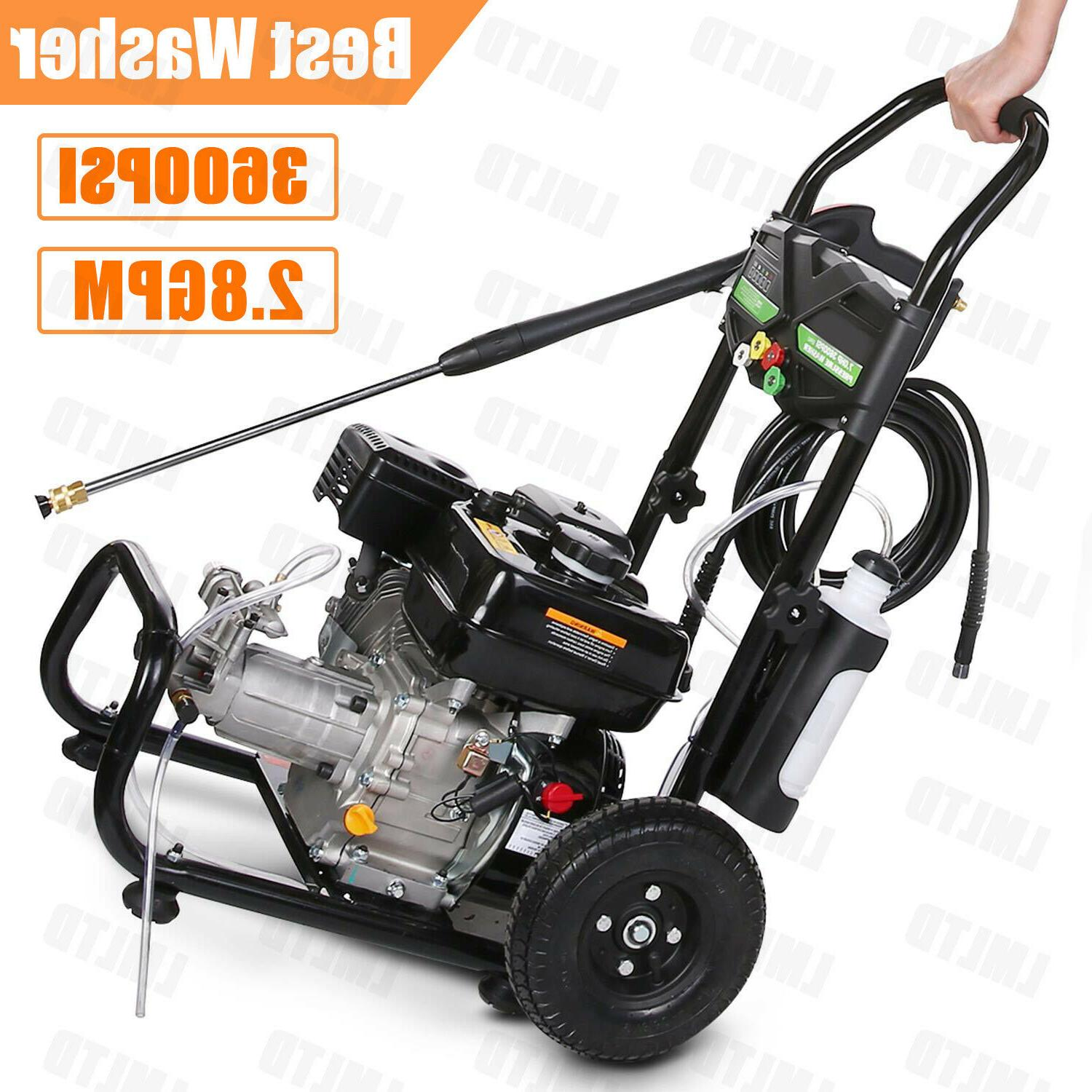 7hp gas powered pressure washer cold water