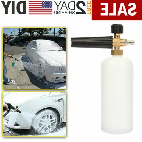 """Car Snow Foam Lance Cannon w/ 1/4"""" Quick Connect Adapter for"""