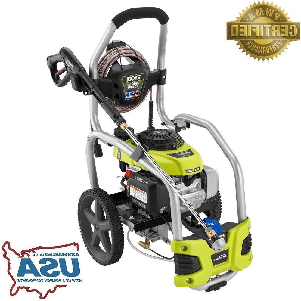 Gas Pressure Washer Idle Down 3100 PSI 2.5 GPM 187cc Honda E