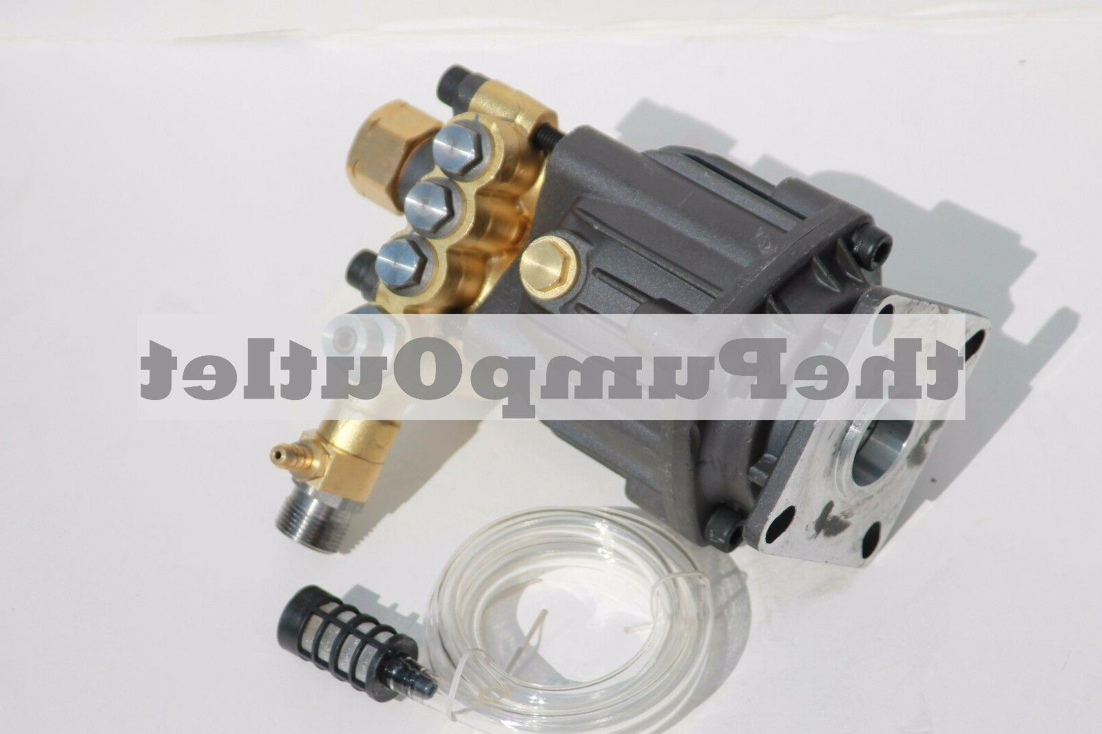"""3000 PSI Axial Pressure Washer Replacement Pump 3/4"""" Horizon"""