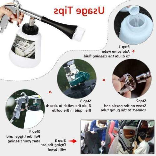 Car Air Pulse High Pressure Water Gun Deep Cleaning Tornado