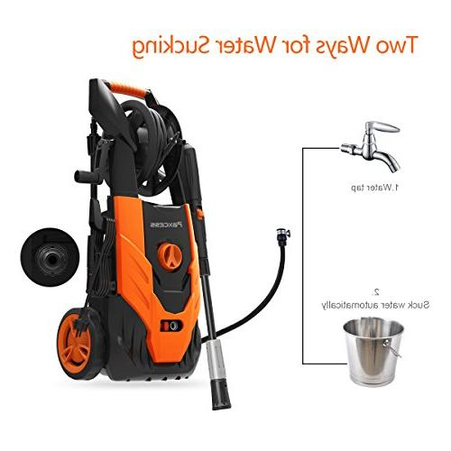 2150 1.85 Electric Power Washer Spray Nozzle,26ft High Pressure Hose, Reel