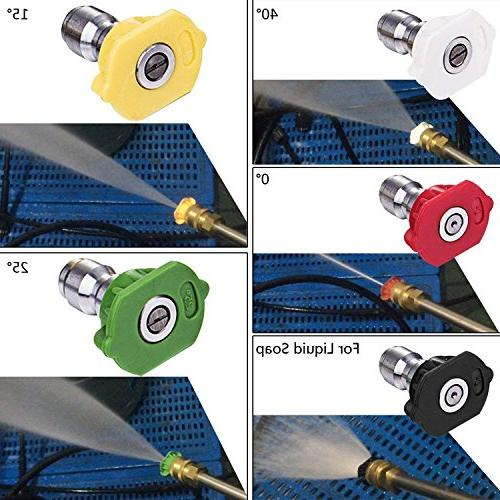 Luckdeal 3000 PSI 1800W, Professional Washing 1.8GPM Power Nozzle Adapters