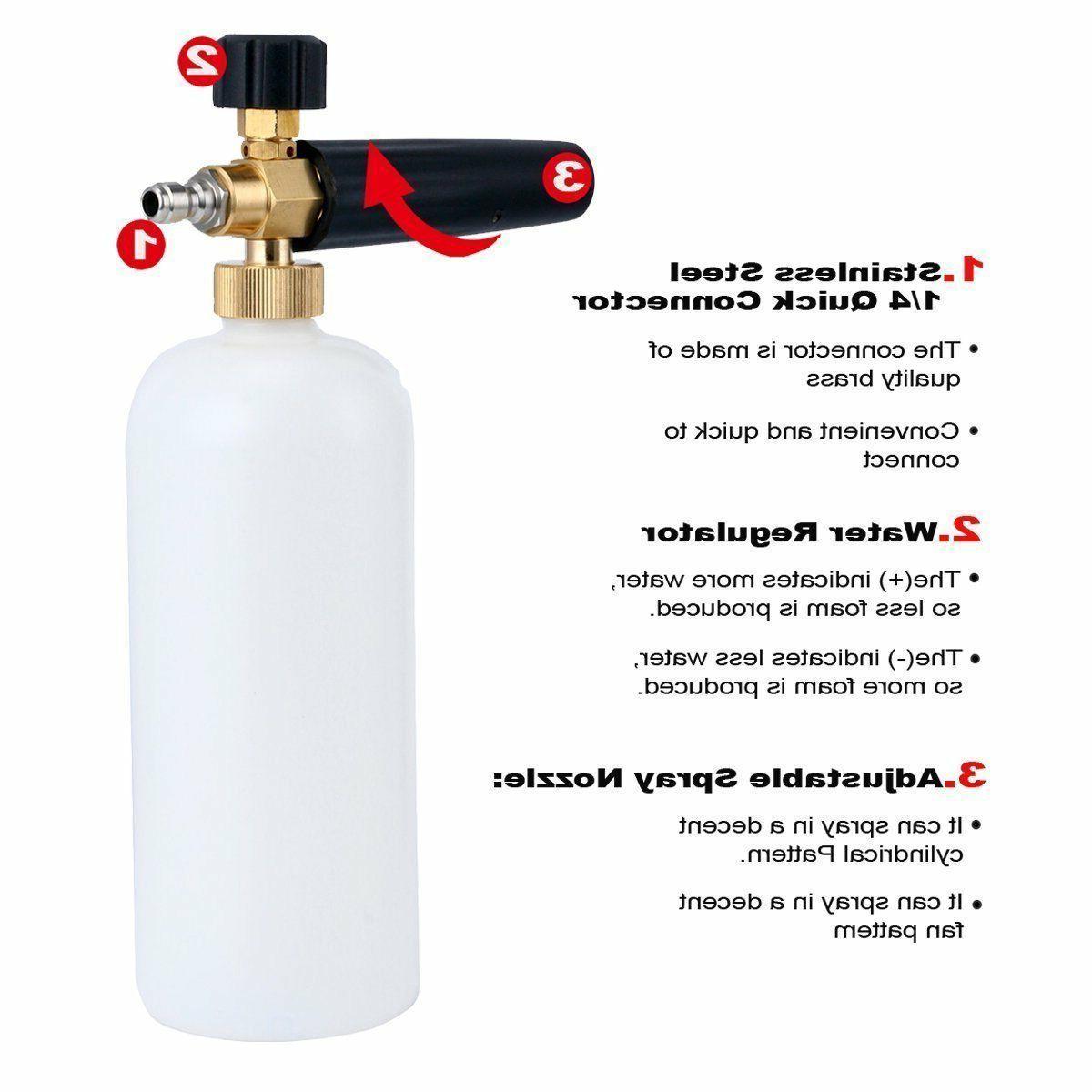 Foam Cannon For Pressure Washer Jet Wash Soap Spray
