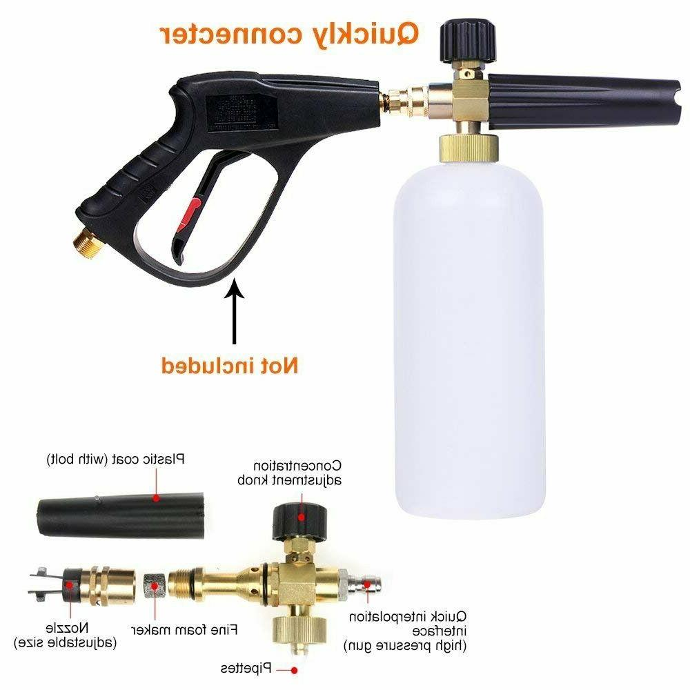 Foam Cannon For Pressure Gun Jet Car