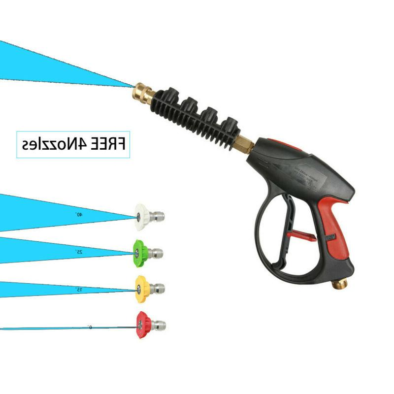 High Pressure Washer Gun Water + 4-color Spray tips