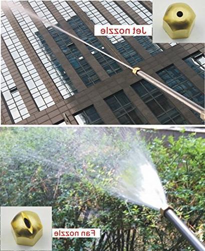 Buyplus Hydro Pressure Power Upgrade Water Hose Garden Hose Jet and Window Glass
