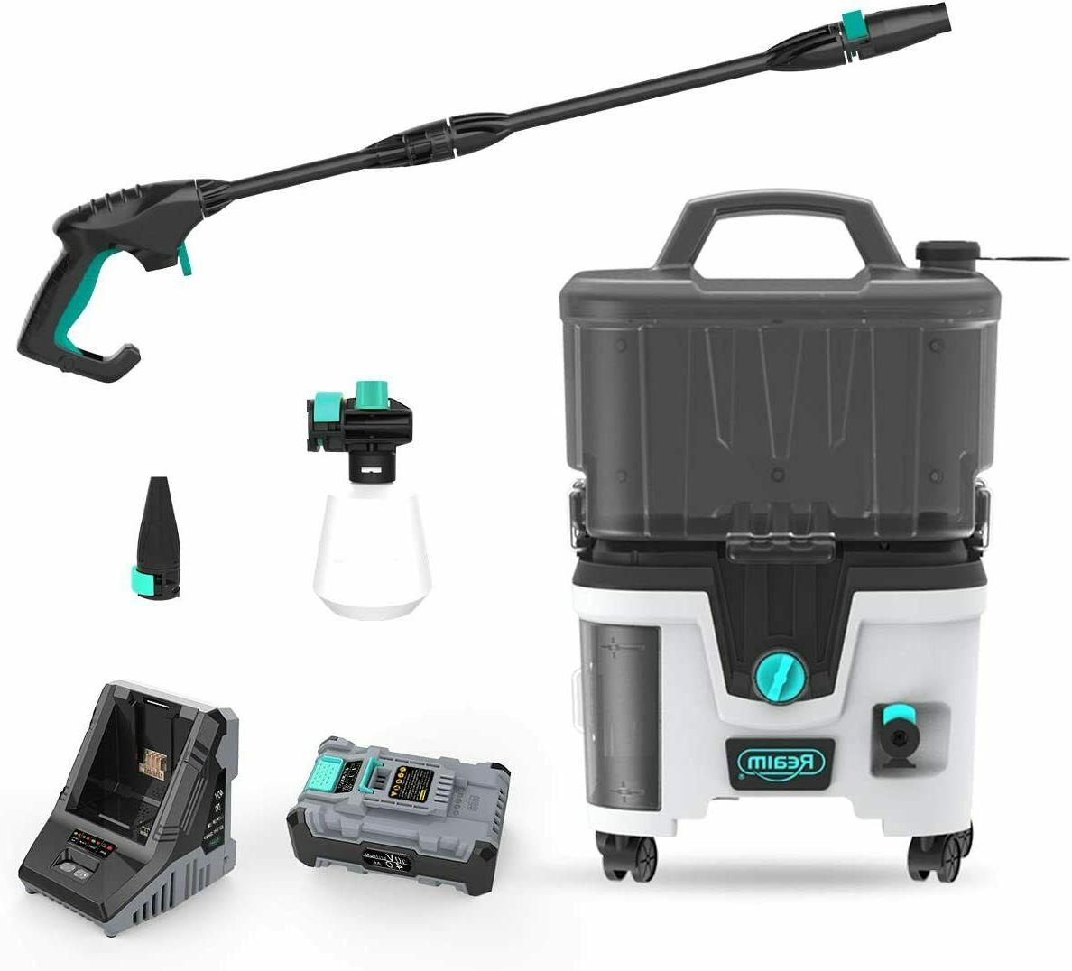 lithium battery cordless pressure washer w battery