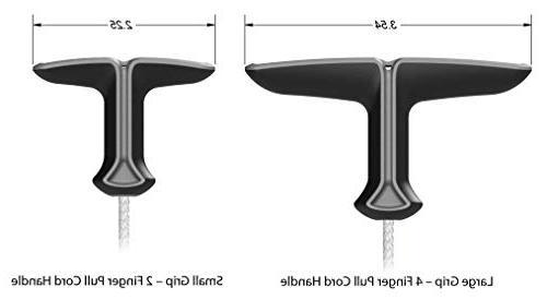 Diamondgrip 3.2 mm Large Grip Unbreakable Gas Pull Starter Recoil Cord Black Kit