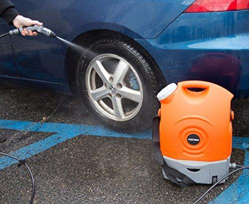 Ivation Multipurpose Portable Spray Washer Tank Runs Built-In Battery, 12v Car Plug - Integrated