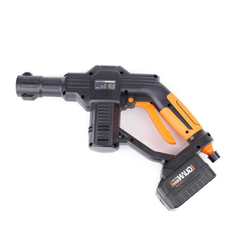 20V Cordless Cleaner Car Washer Gun& Water Hose Nozzle Outdoor+Battery